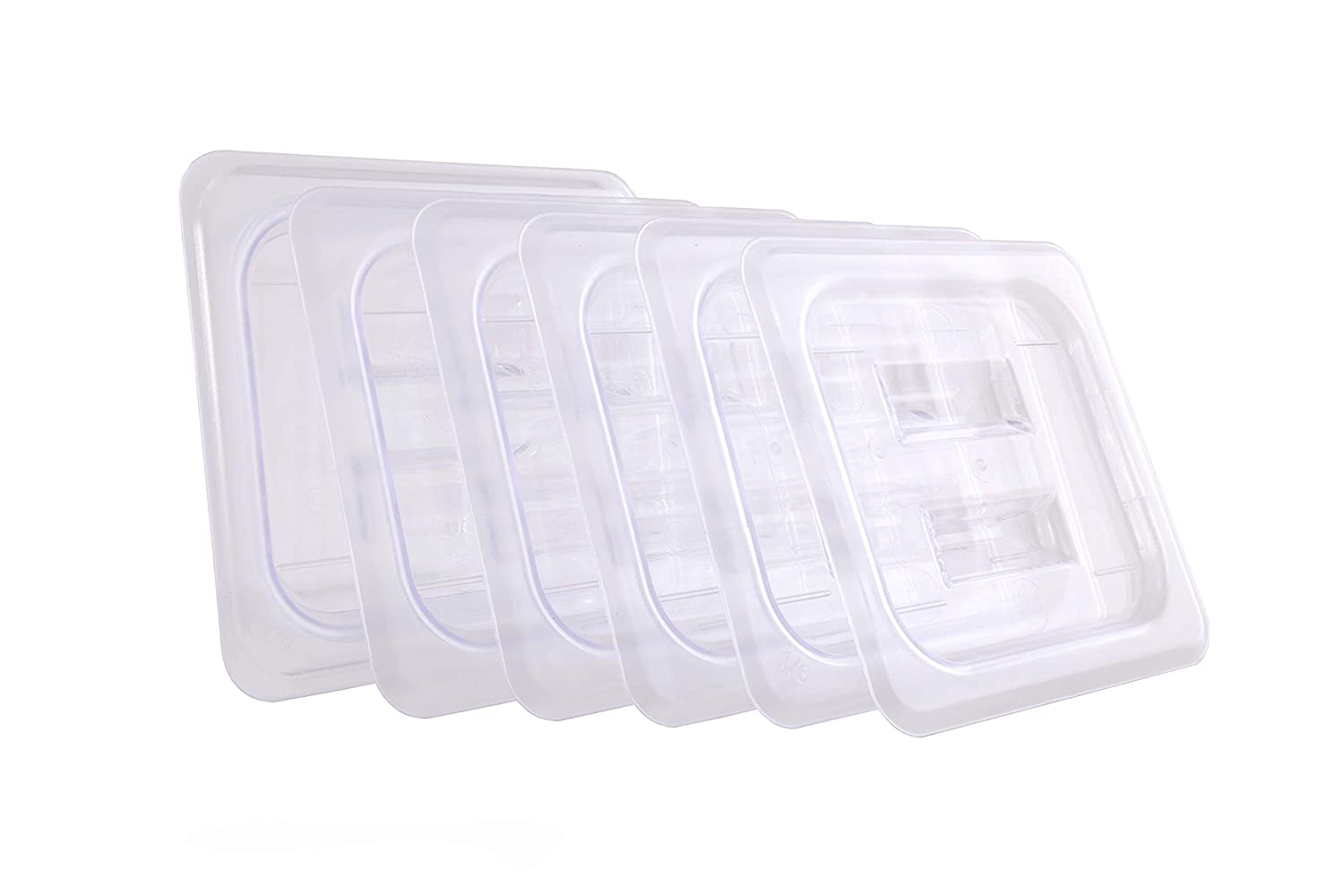 Hakka 1/6 Size Polycarbonate Food Pans Lid&Cover,Clear - Pack of 6
