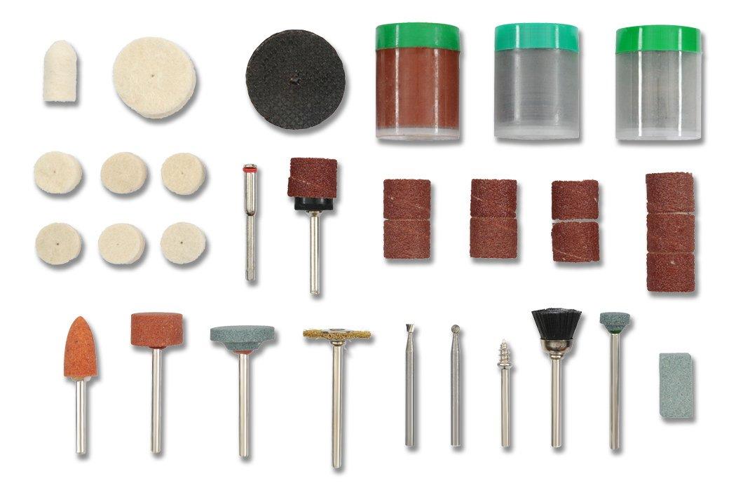 Einhell 510900 Juego de Mini-Accesorios para taladradora, Kit 105 Piezas, 790 W 5109-00
