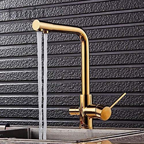 Gulakey キッチンのシンクの蛇口 真鍮素材キッチン蛇口5異なる色の浴室のシンクの蛇口キッチン噴水水道水タップ