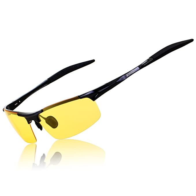0d37675b844df RONSOU Men s HD Polarized Night Vision Anti-glare Driving Glasses Sunglasses  for Men Al-
