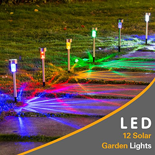 Blue Solar Garden Post Lights