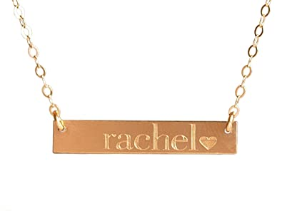 42452ee56 Image Unavailable. Image not available for. Color: EFYTAL Personalized Name  Necklace, Custom Gold Filled ...