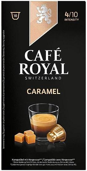 Café Royal Flavoured Edition Caramel cápsulas compatibles con Nespresso* Intensidad: 10 cápsulas