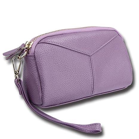 Meaeo Monedero De Cuero Paquete De Cambios Paquetes De Cartas Carteras Ofertas Púrpura