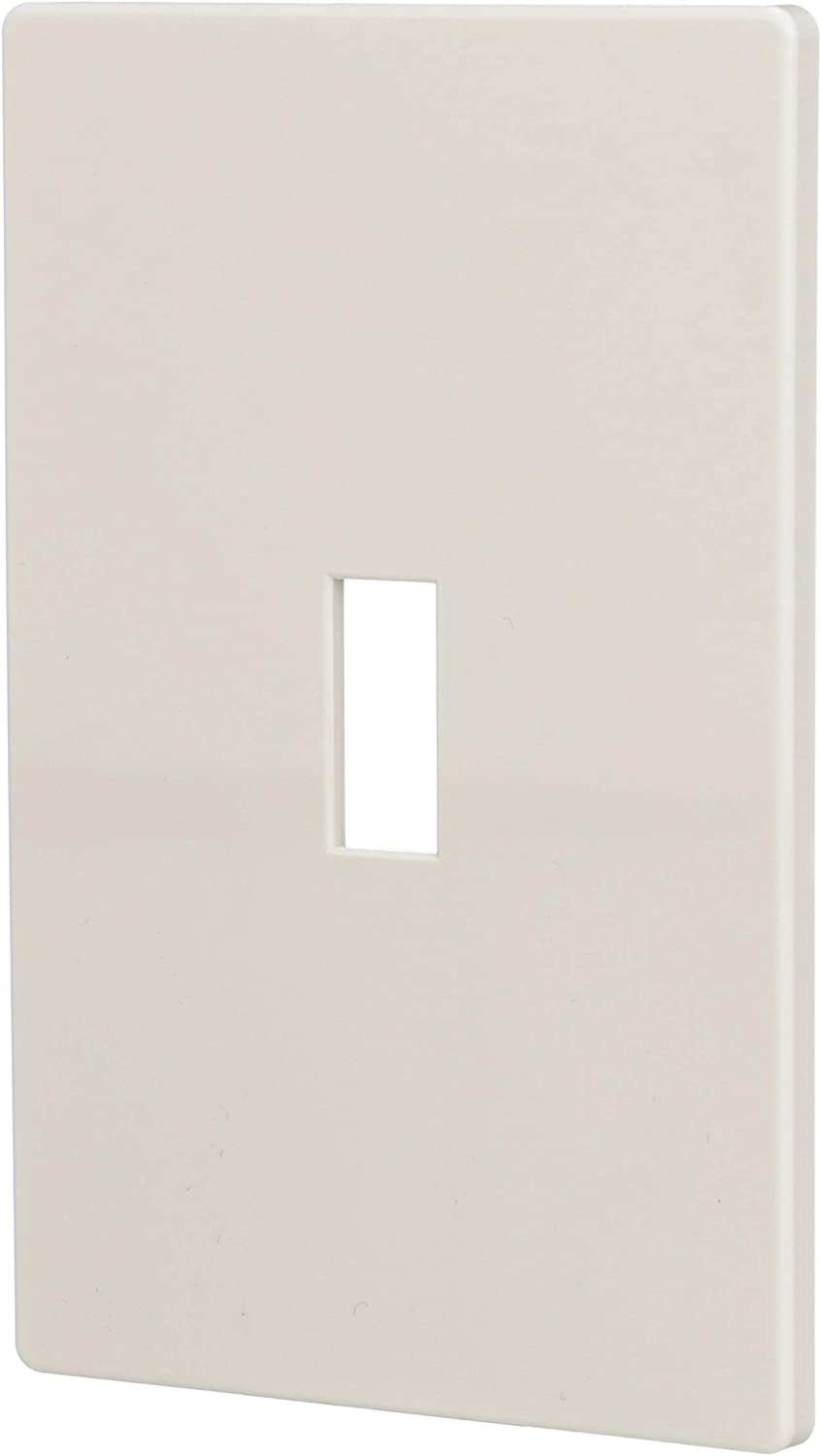 Cooper UNBREAKABLE Light Almond 1-Gang Telephone Coaxial Cable Wallplate PJ11LA