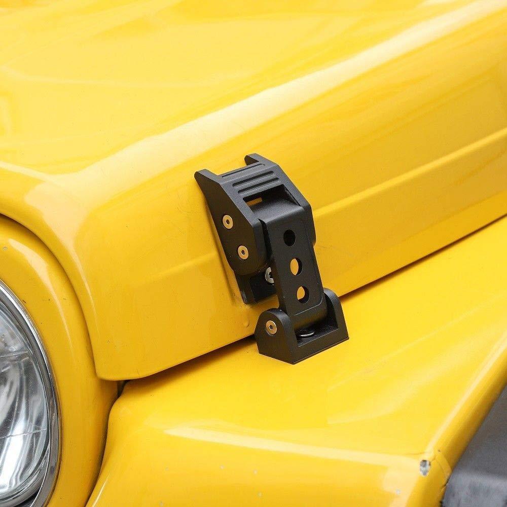 JL Hood Latches Aluminum Hood Catch Latch Set for 2018 2019 Jeep Wrangler JL JLU Sahara Freedom Sport//Sport S NOT FIT Rubicon