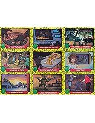 TEENAGE MUTANT NINJA TURTLES CARTOON 1 1989 COMPLETE BASE CARD & STICKER SET 88 + 11 AN