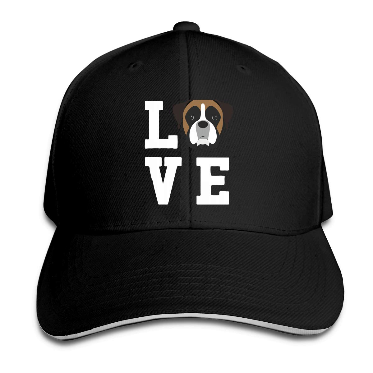 Boxer Dog Outdoor Snapback Sandwich Cap Adjustable Baseball Hat Plain Cap