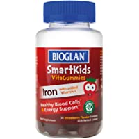 Bioglan SmartKids Iron | Vitamin C | Energy Support | 30 Gummies