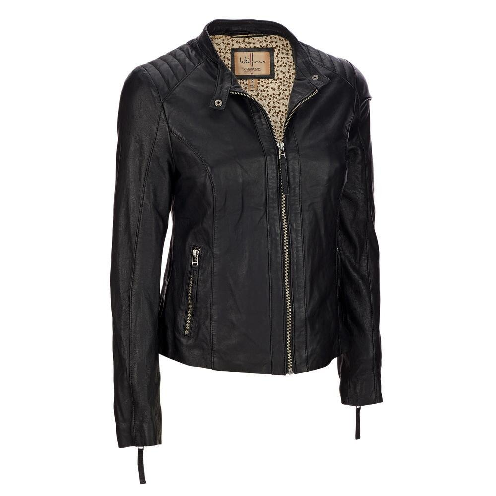 Wilsons Leather Womens Vintage Leather Scuba Jacket XL Black by Wilsons Leather (Image #1)