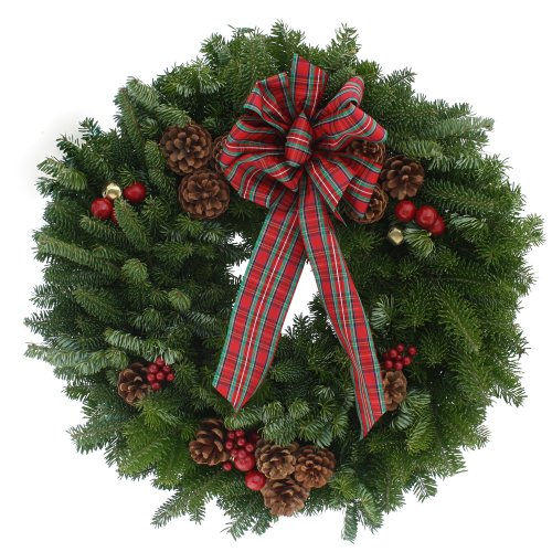 Worcester Wreath 20-Inch Highland Maine Balsam Wreath Christmas Wreaths
