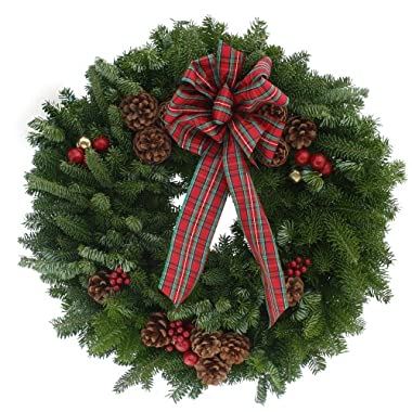 Worcester Wreath 20-Inch Highland Maine Balsam Wreath