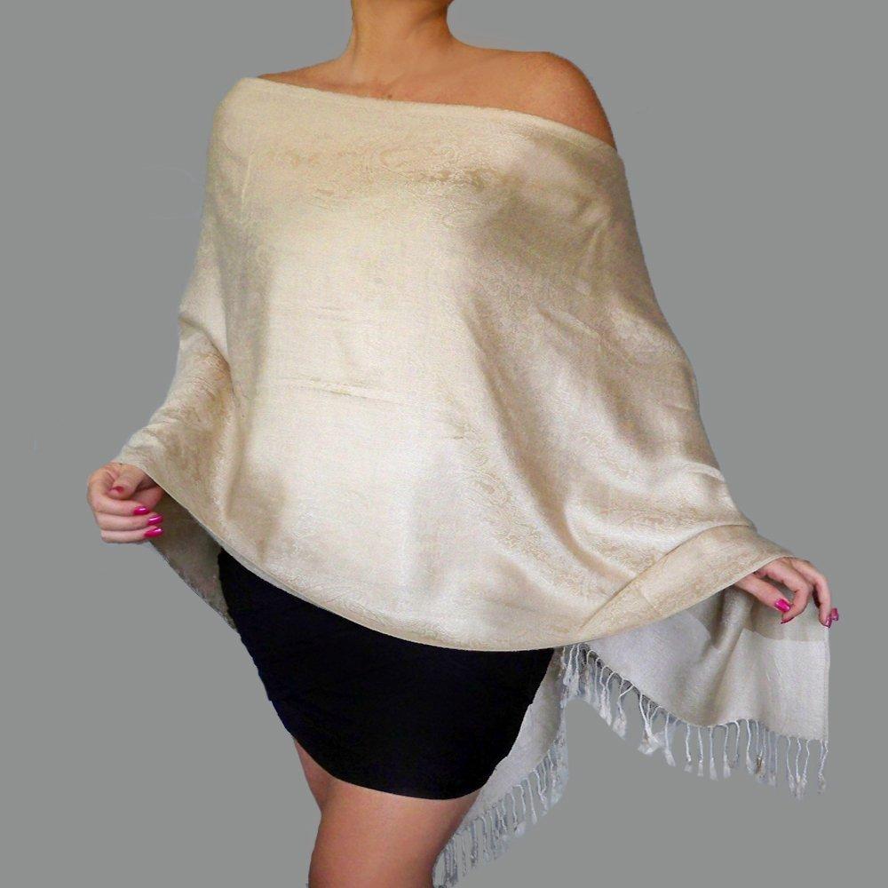 851d8a51555 Amazon.com: Plus Size Cream Wrap Mother Of The Bride Dress Shawl ...