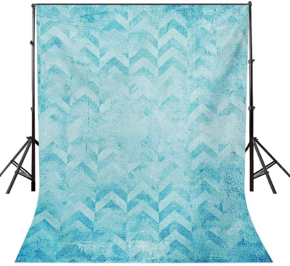 Turquoise 6.5x10 FT Photo Backdrops,Geometric Design Chevron Patterns on Old Vintage Paper Contemporary Art Print Background for Photography Kids Adult Photo Booth Video Shoot Vinyl Studio Props