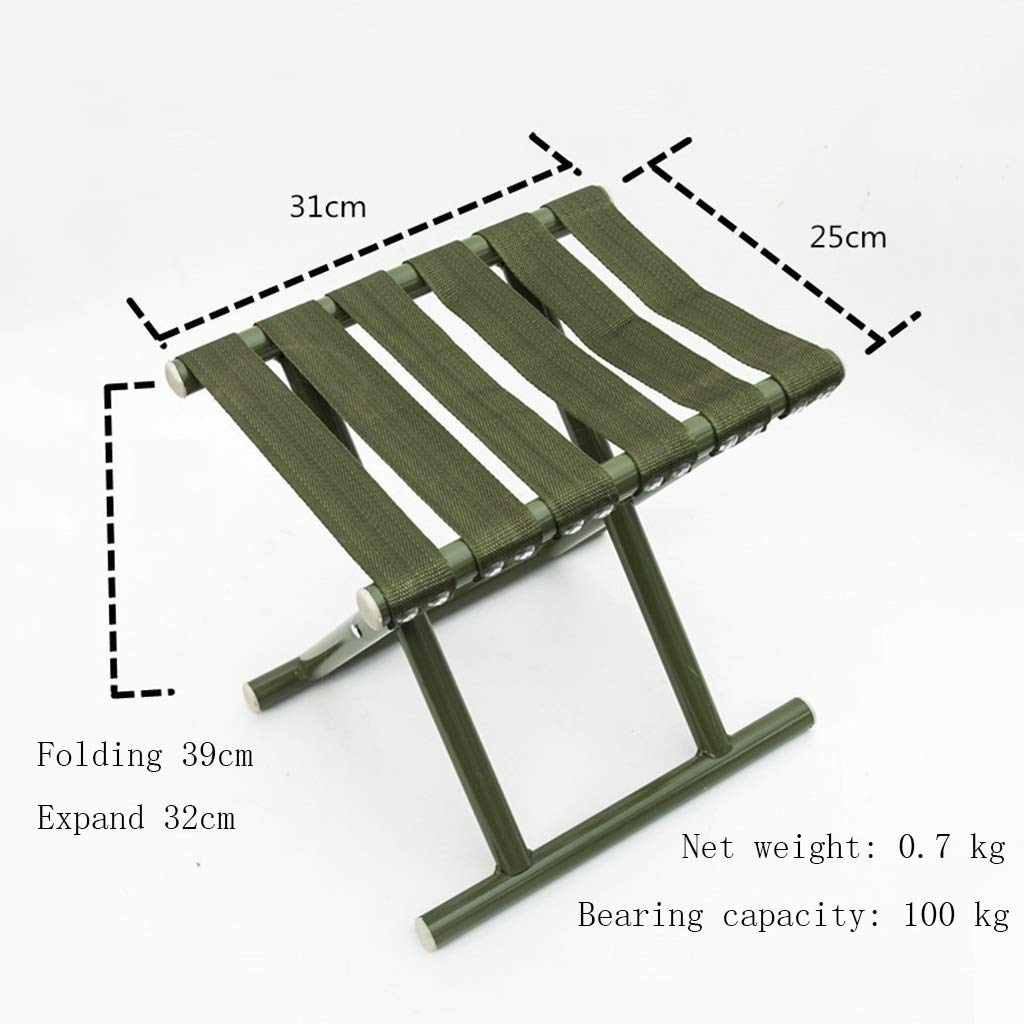 B1 Stools Portable Folding Stool Super Heavy Outdoor Folding Chair Can Accommodate 100kg Can Be Used for Small Bench Fishing Chair Folding Chair Latest Model (color   B2)