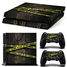 Ps4 Playstation 4 Console Skin Decal Sticker Crime Scene + 2 Controller Skins Set