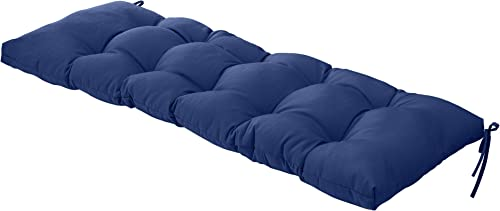 QILLOWAY Indoor Outdoor All Weather Bench Cushion,51-Inches Navy