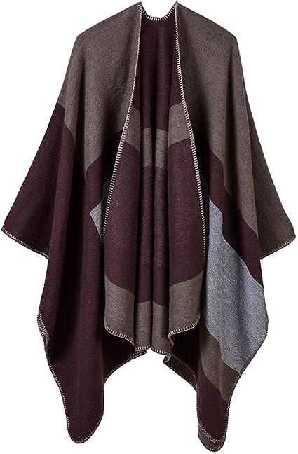 CHAL Kmgjc Bufanda de Inverno, Pashmina bufanda-130cm*150cm (Color : D, Tamaño : 130 * 150cm)