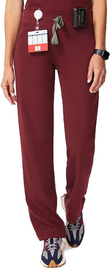 Amazon Com Figs Livingston Pantalones De Trabajo Para Mujer Basicos Ajuste Perfecto Superflexibles Muy Suaves Pantalones Para Sanitarios Antiarrugas Clothing