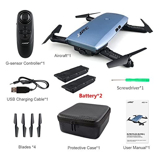 Ferngesteuertes Eine Batterie HELIFAR H818 Drohne Faltbar mit Kamera HD 720P WiFi FPV S
