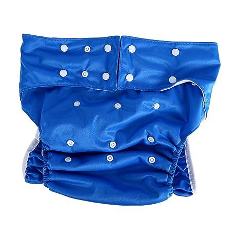 Adultos pañales de tela lavable para cuidado de incontinencia - Apertura el bolsillo ajustable reutilizable,