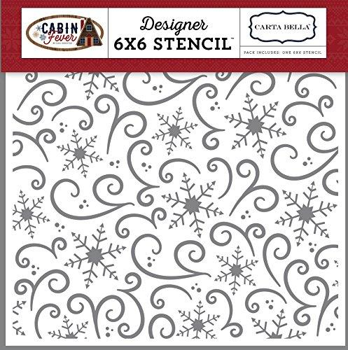 Carta Bella Paper Company Snowflake Swirl Stencil