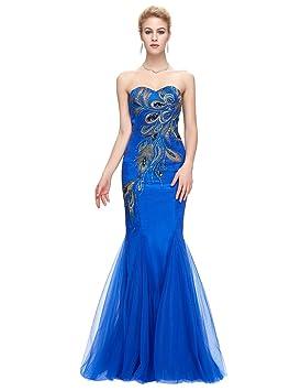 Vestidos color azul real