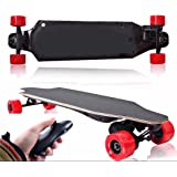 Electric Skateboard Longboard By Falcon Board - Powerful 1200W Brushless Motor - 8AH Lithium Battery - Bluetooth Remote - 100% Canadian Maple Deck