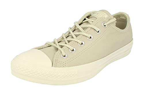 9ac6a852f2e6e6 Converse Men s Chuck Taylor All Star Ox Leather Trainers - Grey ...
