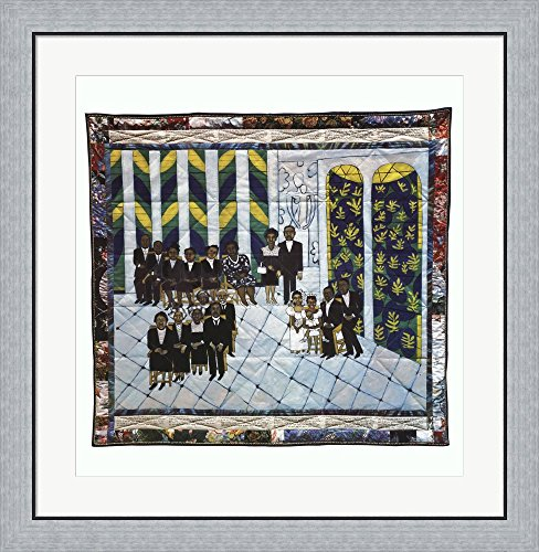 Matisse's Chapel by Faith Ringgold Framed Art Print Wall Picture, Flat Silver Frame, 30 x 31 inches by Great Art Now