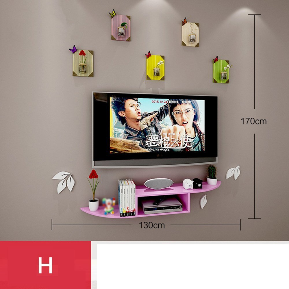 HOMEE Solid Wood Set - Top Box Wall Wall Shelf Living Room Partition Router Tv Cabinet Bedroom Wall Racks Wall Decorations (Multiple Styles Available),H