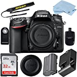 Nikon D7200 24.2 MP DSLR Camera (Body Only) Bundle with High Speed 32GB Memory Card + Accessory Bundle