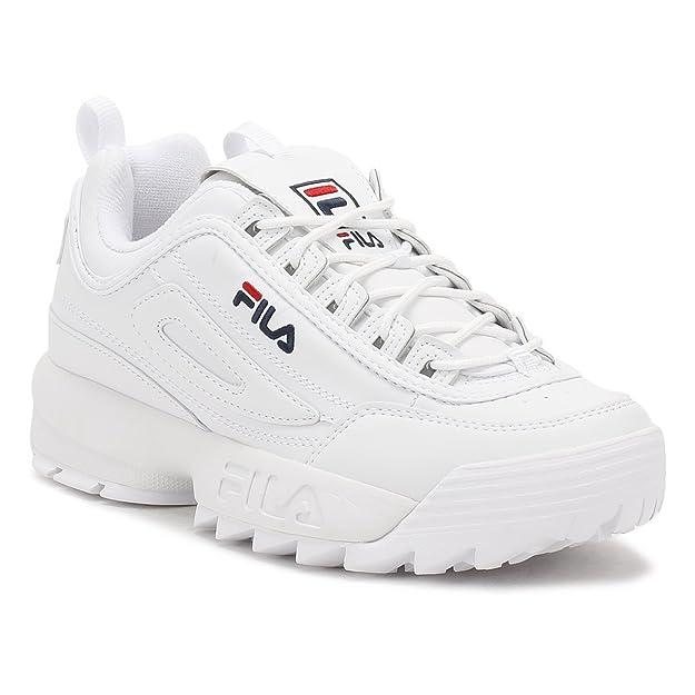 fila roma trainers bianca