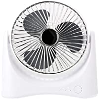 Small Portable Cooling Fan, Desktop Fan Student Dormitory USB Portable Charging Home Office (Color : Silver)