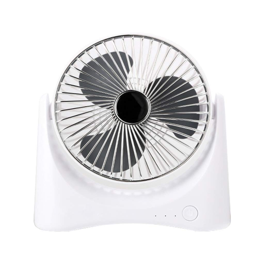 Air Cooler Personal Air Conditioner Fan Small Portable Cooling Fan, Desktop Fan Student Dormitory USB Portable Charging Home Office (Color : Silver) by LyJ+evanism