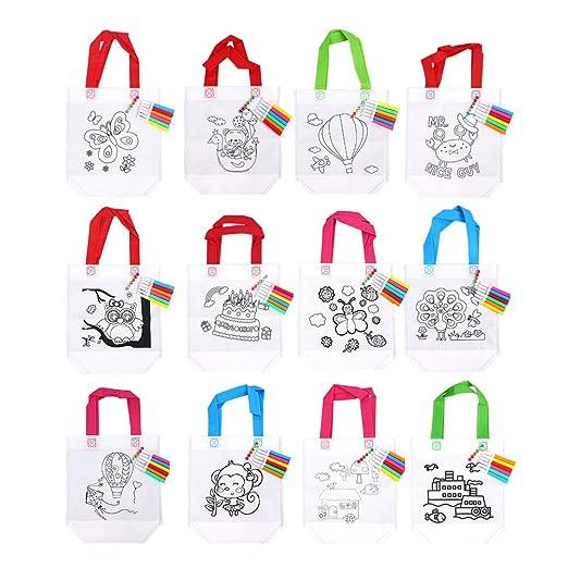 YeahiBaby 12 Piezas Bolsas para Colorear Ideal para Regalos ...