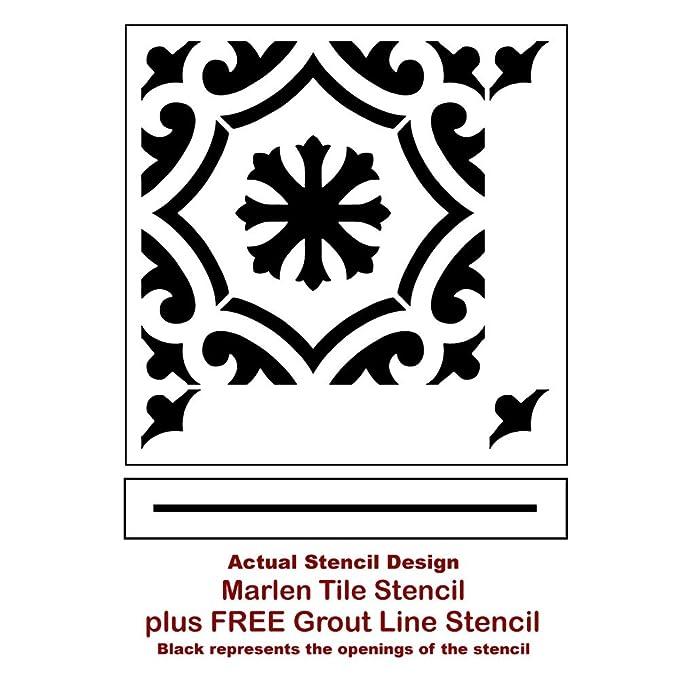 Amazon.com: Plantilla de azulejos Marlen – Plantillas de ...