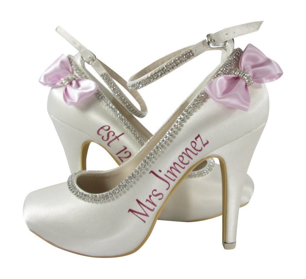 0716ffbfb5a82f Amazon.com  Handmade Bling Bow High Heels