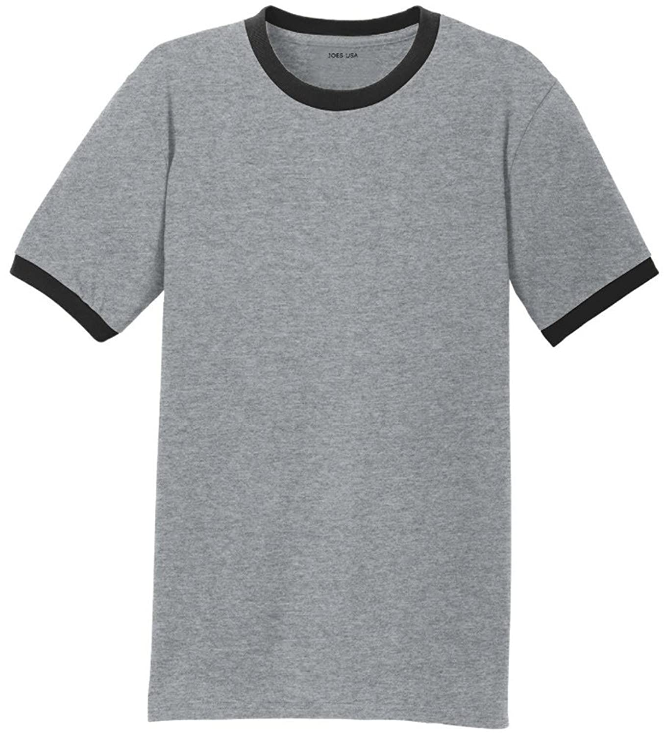Men's Soft 5.4-Oz 100% Cotton Ringer T-Shirts in Adult Sizes: S ...