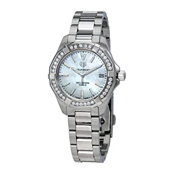 c56c8d2d9c47 Image Unavailable. Image not available for. Color  Tag Heuer Aquaracer  Diamond Ladies Watch ...