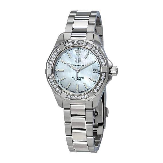 TAG Heuer Aquaracer Reloj de mujer diamante cuarzo 32mm de acero WBD1313.BA0740