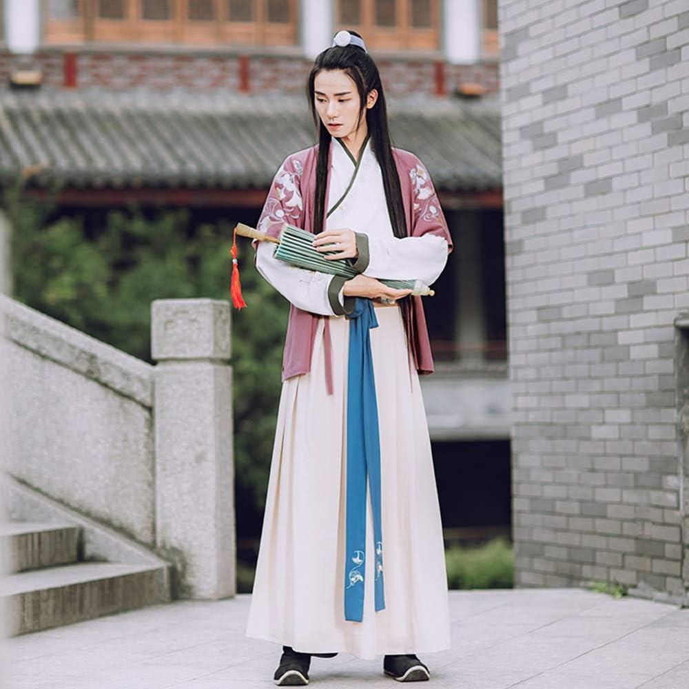 Mebeauty Elegante Traje de Hanfu Retro para Hombre, Bordado ...