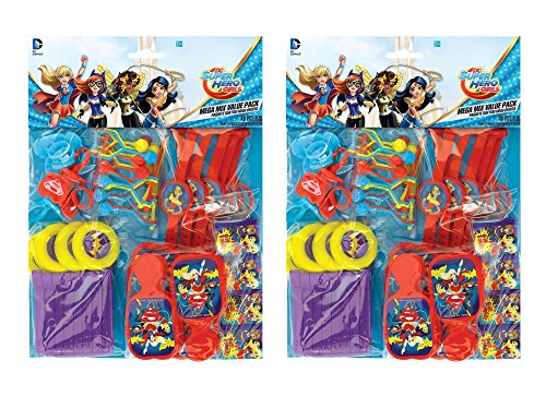AP 2 Pack of 48 Amscan DC Super Hero Girls Favor Pack Bundled by Maven Gifts -