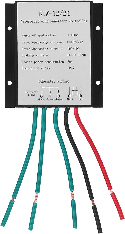 DAUERHAFT Regulador de Viento de aleación de Aluminio Resistente a la corrosión Regulador de aerogenerador 400W IP67 Regulador de Carga de aerogenerador para aerogenerador