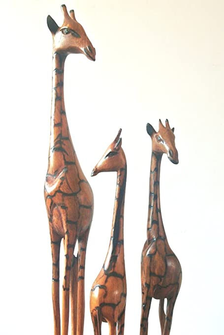 South African Wooden Giraffe Approximately 40 Cm Tall Damaged