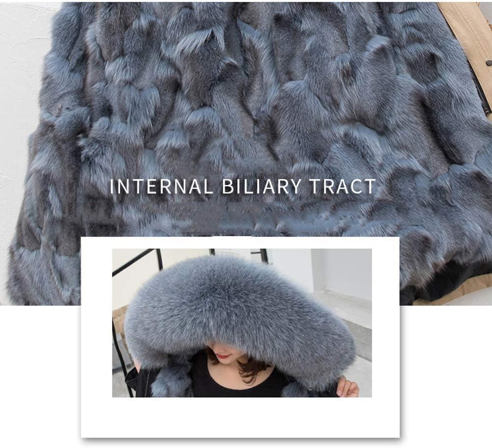 QIA Femmes d'hiver à Capuchon Chaud Manteaux Parkas, Coupe-Vent imperméable Longues Thicken Parka Vestes Faux Fur (M-XXL) C
