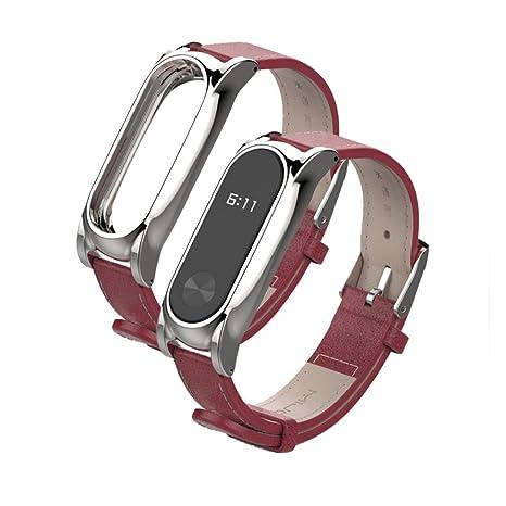 mijoas piel + Smart de acero inoxidable reloj de pulsera ...