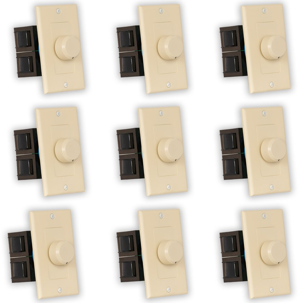 Theater Solutions TSVCD-I Indoor Speaker Volume Controls Ivory Dial Audio Switches 9 Piece Pack by Theater Solutions