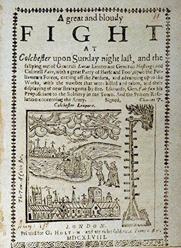 English Pamphlet 1648 Npamphlet Describing The Siege Of Royalists At Colchester By Paliament During The English Civil War 1648 Poster Print by (24 x 36)