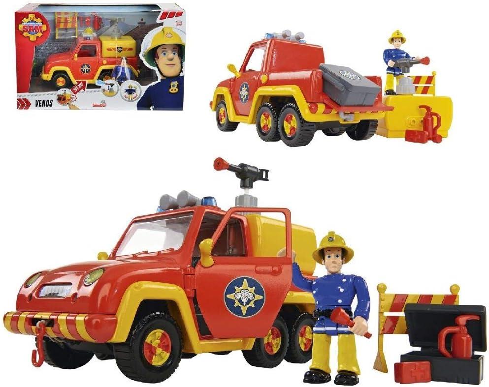 Sam el bombero- Vehículo con Figura, Color Rojo (Simba 9257656)